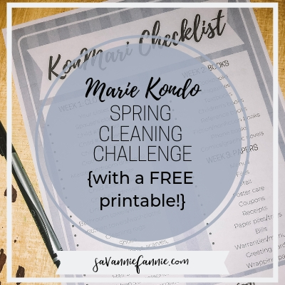 konmari spring cleaning printable