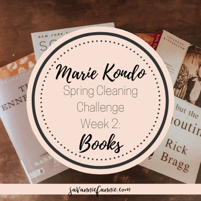 Marie Kondo Spring Cleaning Week 2: Books