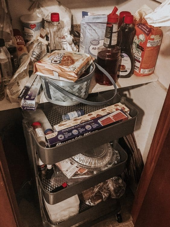 marie kondo pantry before 2